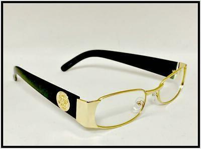 Men Exotic Elegant Retro Style Clear GLASSES Gold Black Frame