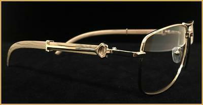Men's Elegant Style Clear Lens EYE GLASSES Large Gold &
