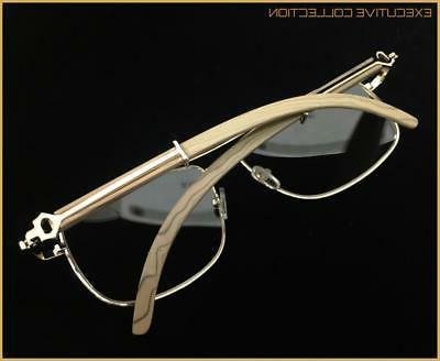 Men's Classy Elegant Retro Style GLASSES Large Wood Frame