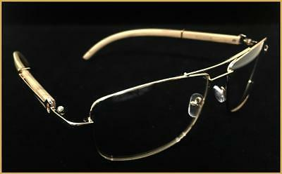 Men's Classy Retro Style Clear GLASSES Wood Frame