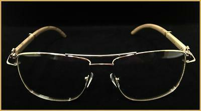 Men's Classy Style GLASSES Large Wood Frame