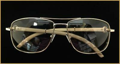 Men's Classy Style Clear GLASSES Large Gold Wood