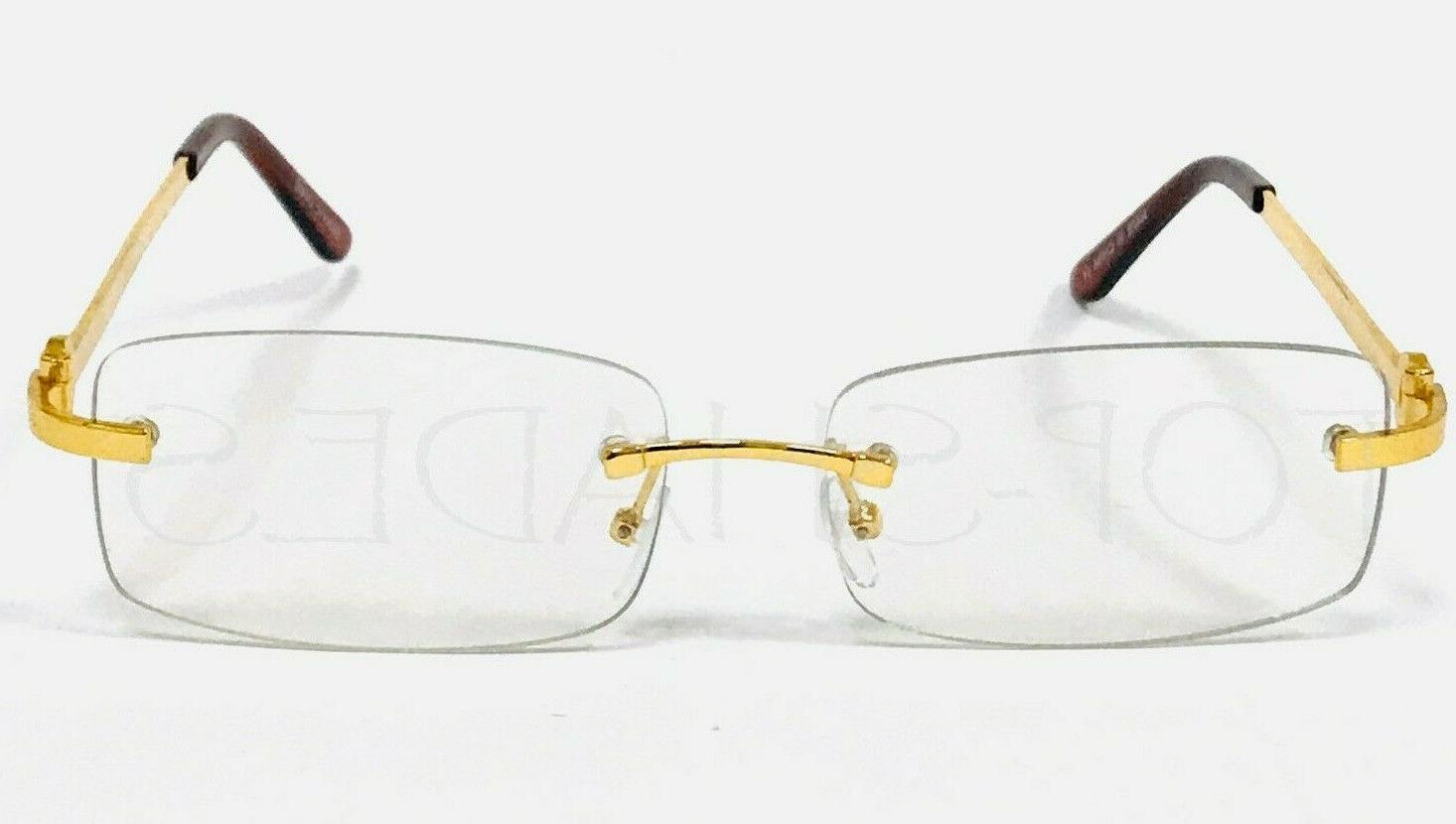 Men's Sophisticated Gold Lens Eye