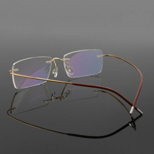 Men's Flexible Optical Frame Eyewear Rimless able