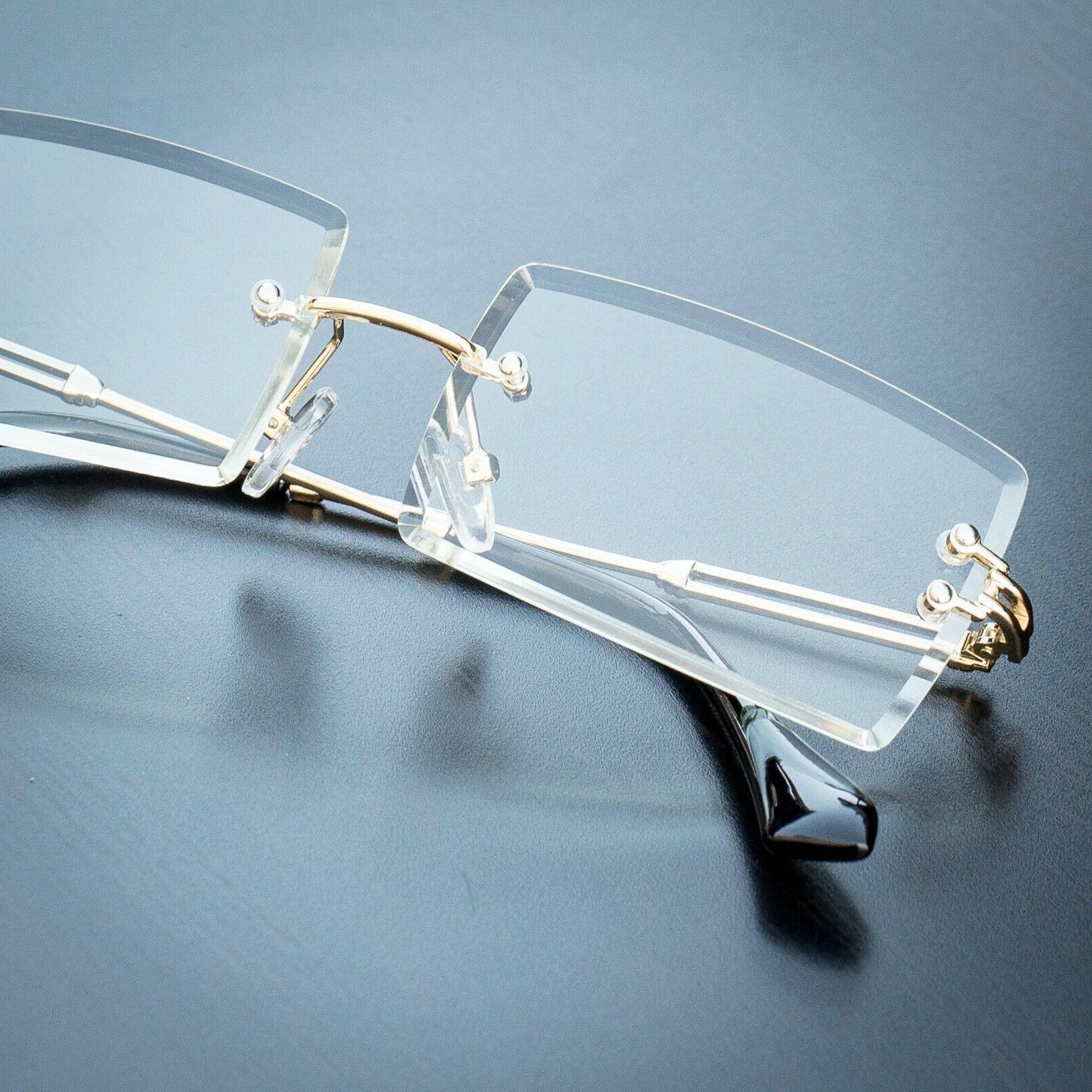 Men's Rectangular Sophisticated Clear Lens Eye