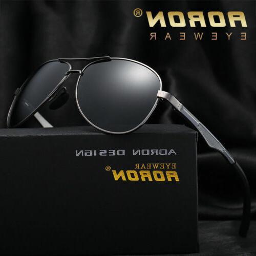 men s retro metal polarized pilot sunglasses