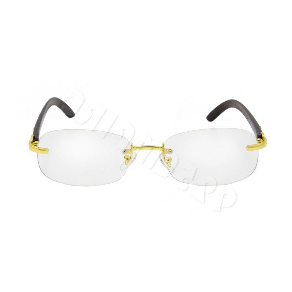 For Men's Rx Color Metal Frames Eye Clear Lens