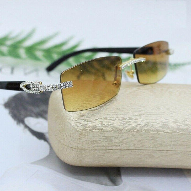 Men's Clear Glasses Rhinestone Classy