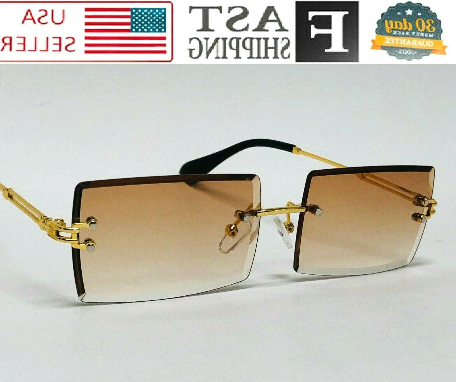 Gold Clear Lens Rimless Eye
