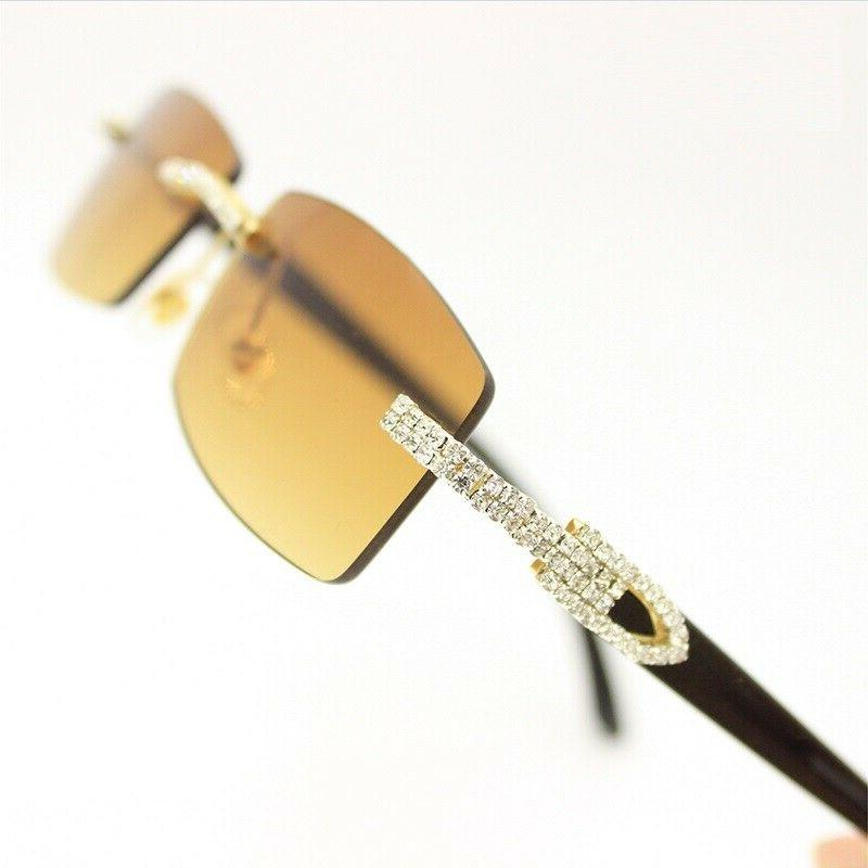 Men's Clear Lens Glasses Rhinestone Diamond Women's Classy Exotic