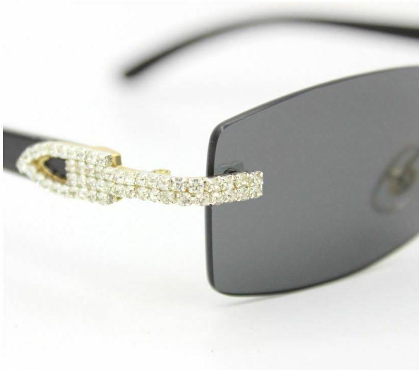 Men's Clear Glasses Diamond Classy Exotic
