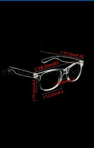 Men's Women Style Clear GLASSES TRANSPARENT CRYSTAL