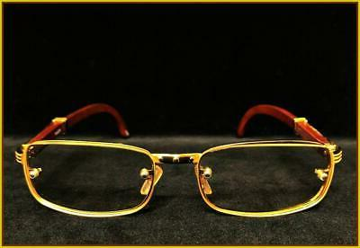 Men ELEGANT Clear Lens GLASSES Gold Frame