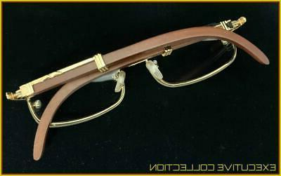 Men Sophisticated Clear EYE GLASSES Gold & Frame