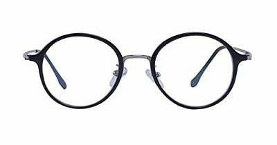 Men Women Round Glasses Clear Retro Eye