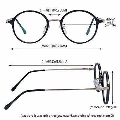 Men Glasses Clear Lens Metal Frame Retro