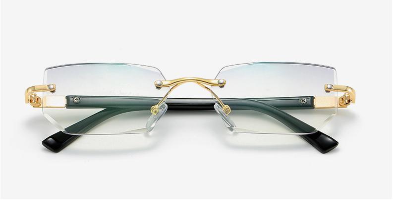 mens eye glasses clear lens rimless small