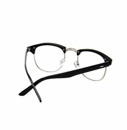 Mens Non Prescription Clear Lens Glasses Stylish Eyewear