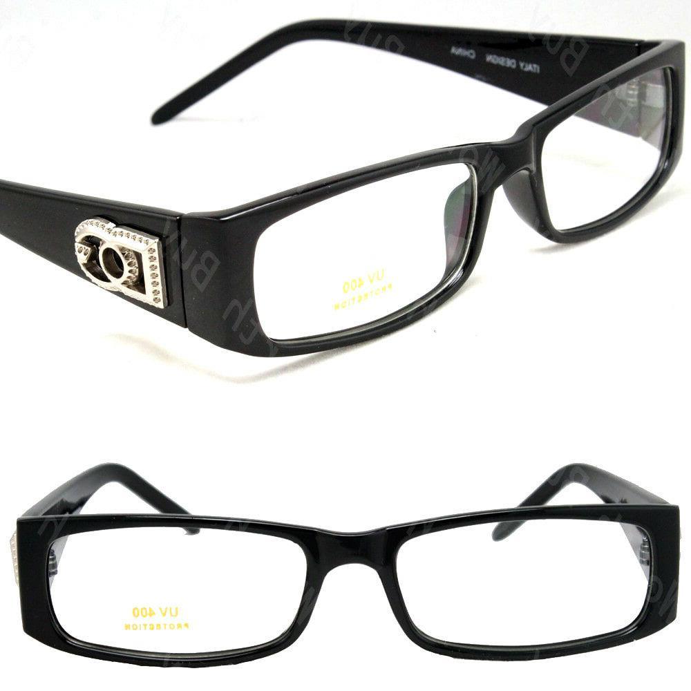 Mens Women Clear Rectangular Frame Glasses Color