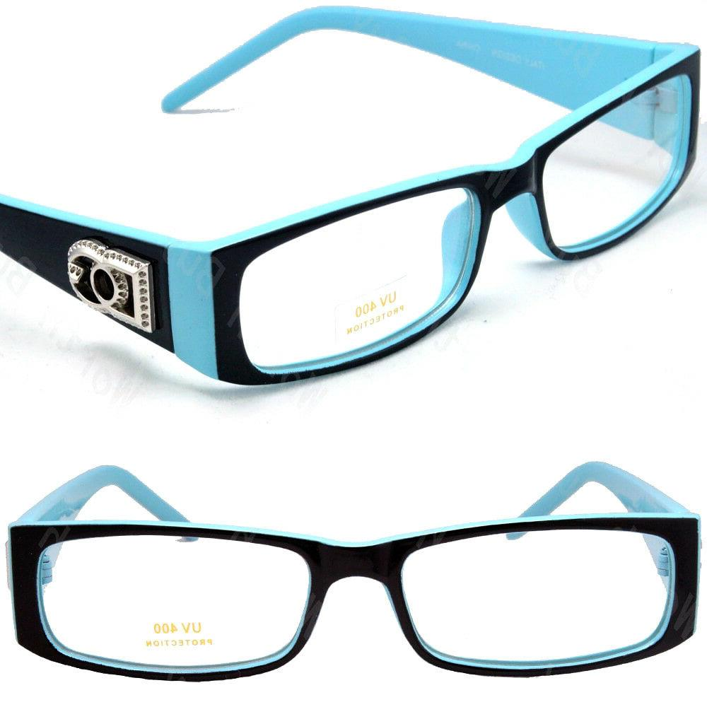 Mens Rectangular Frame Fashion Glasses Designer Color