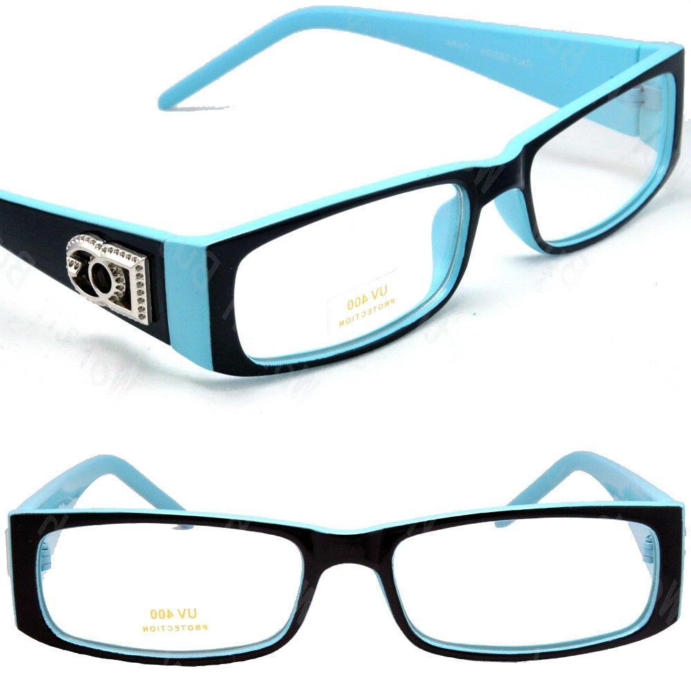 Mens Rectangular Frame Fashion Glasses Designer Color