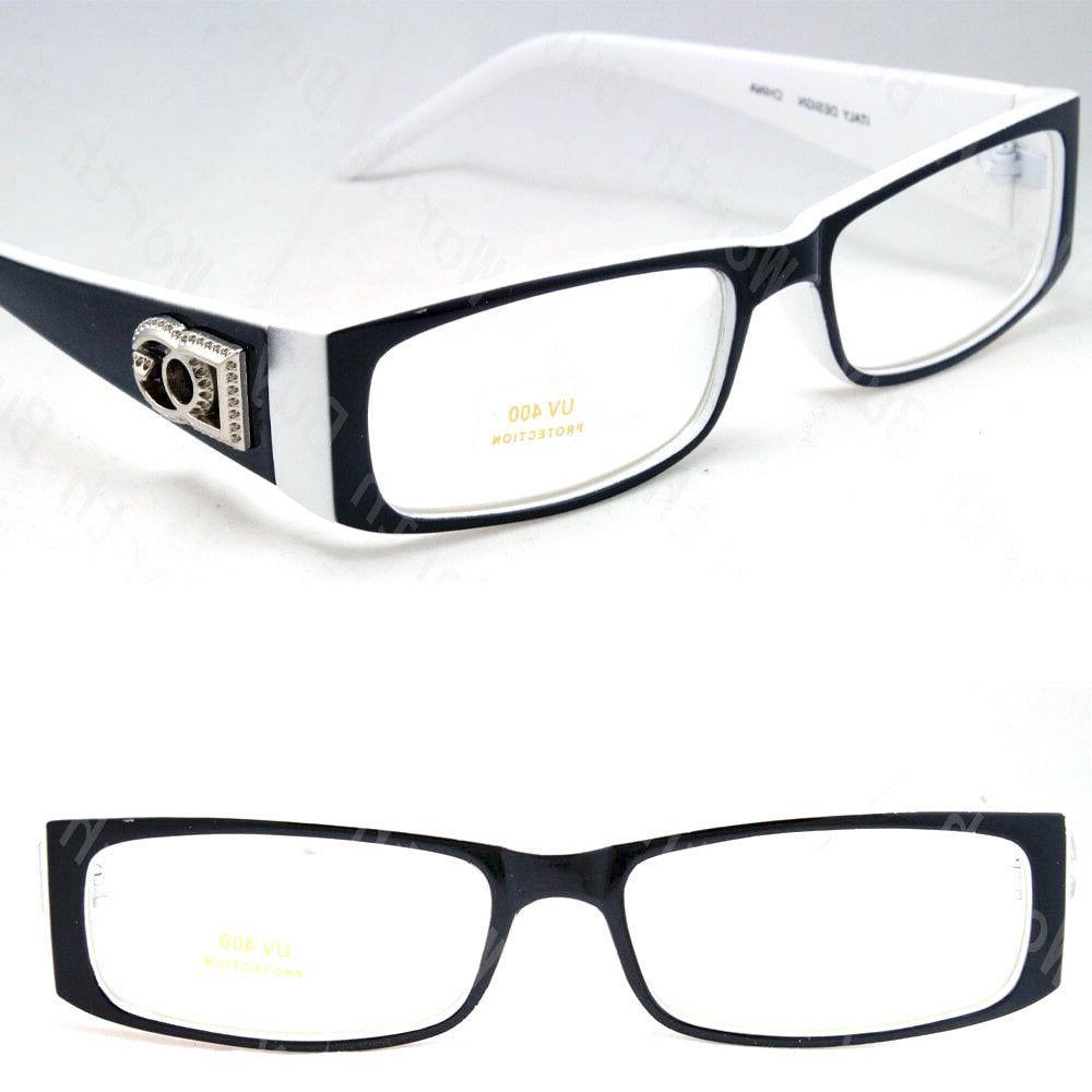 Mens Women Clear Rectangular Frame Fashion Eye Glasses