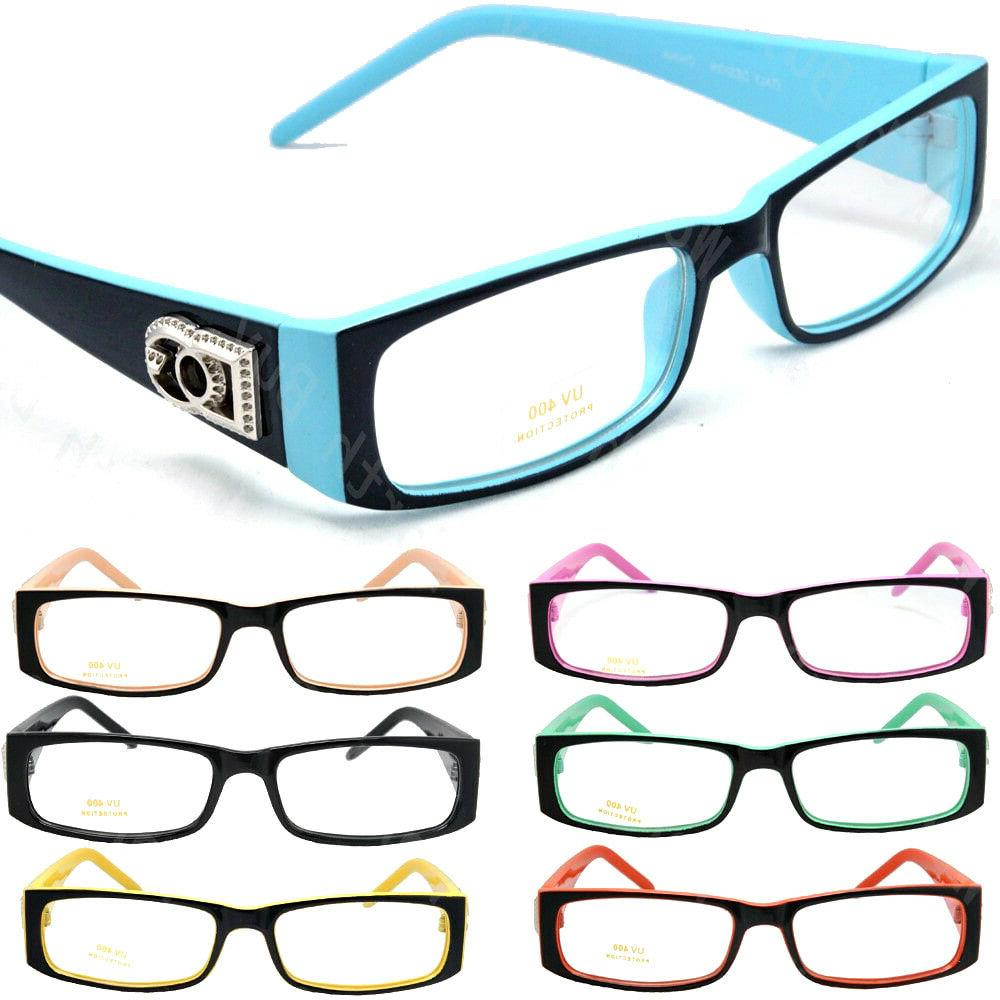mens women clear lens rectangular frame fashion