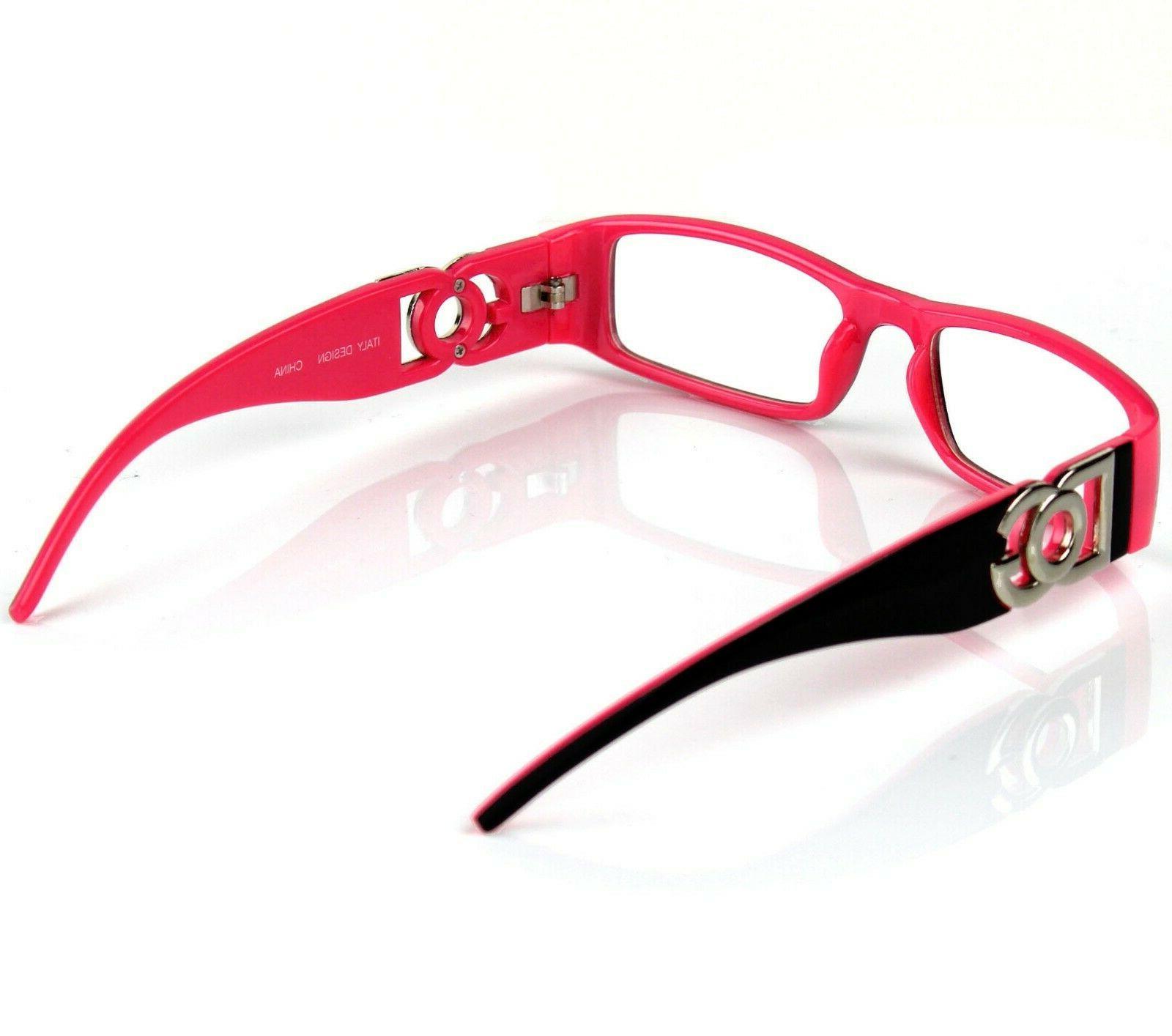 Mens Women Clear Lens Rectangular Frame Glasses Designer
