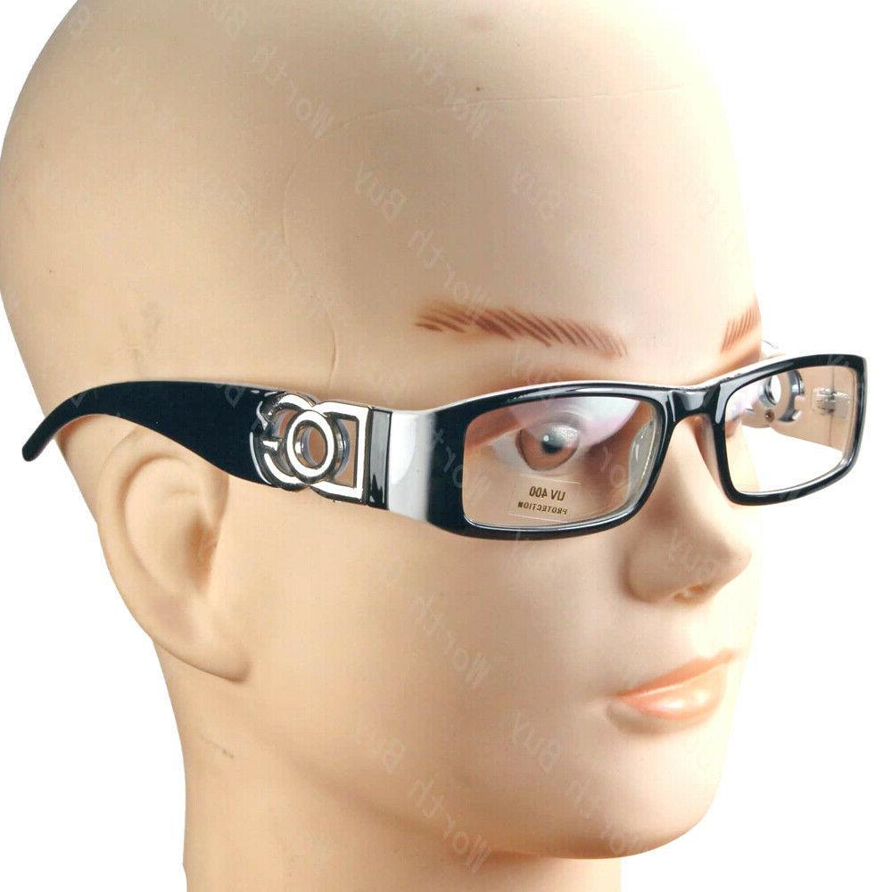 Mens Women Clear Lens Rectangular Glasses Designer