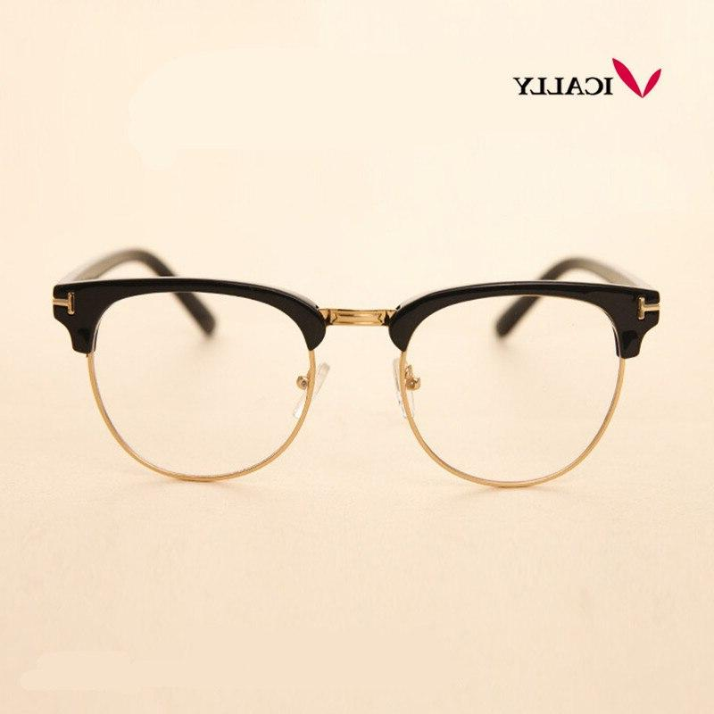 metal half frame font b glasses b