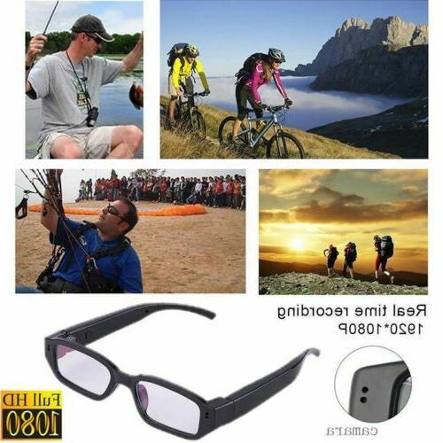 Sport 1080P HD Camera Glasses Spy Hidden Eyeglass DVR Video