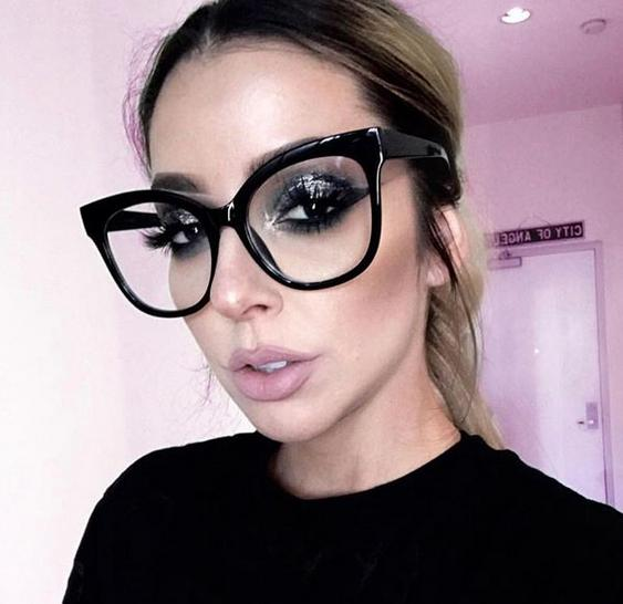 miss gorgeous women eyeglasses cat eye clear