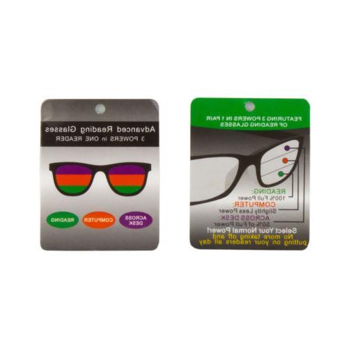 Multi Progressive Glasses 3 Powers 1 Reader Bifocal