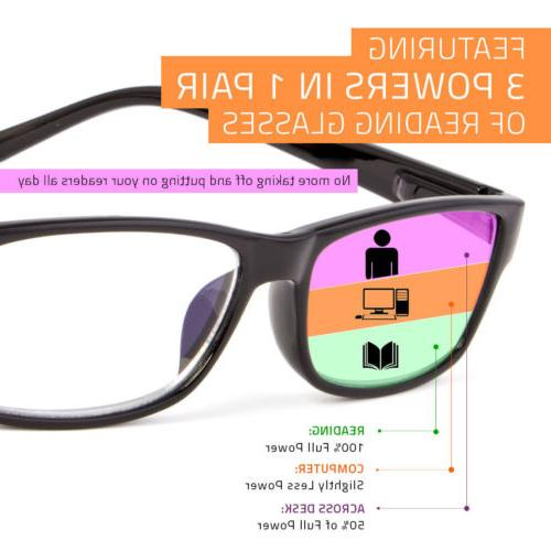 Multi Focus Glasses 1 Reader Bifocal