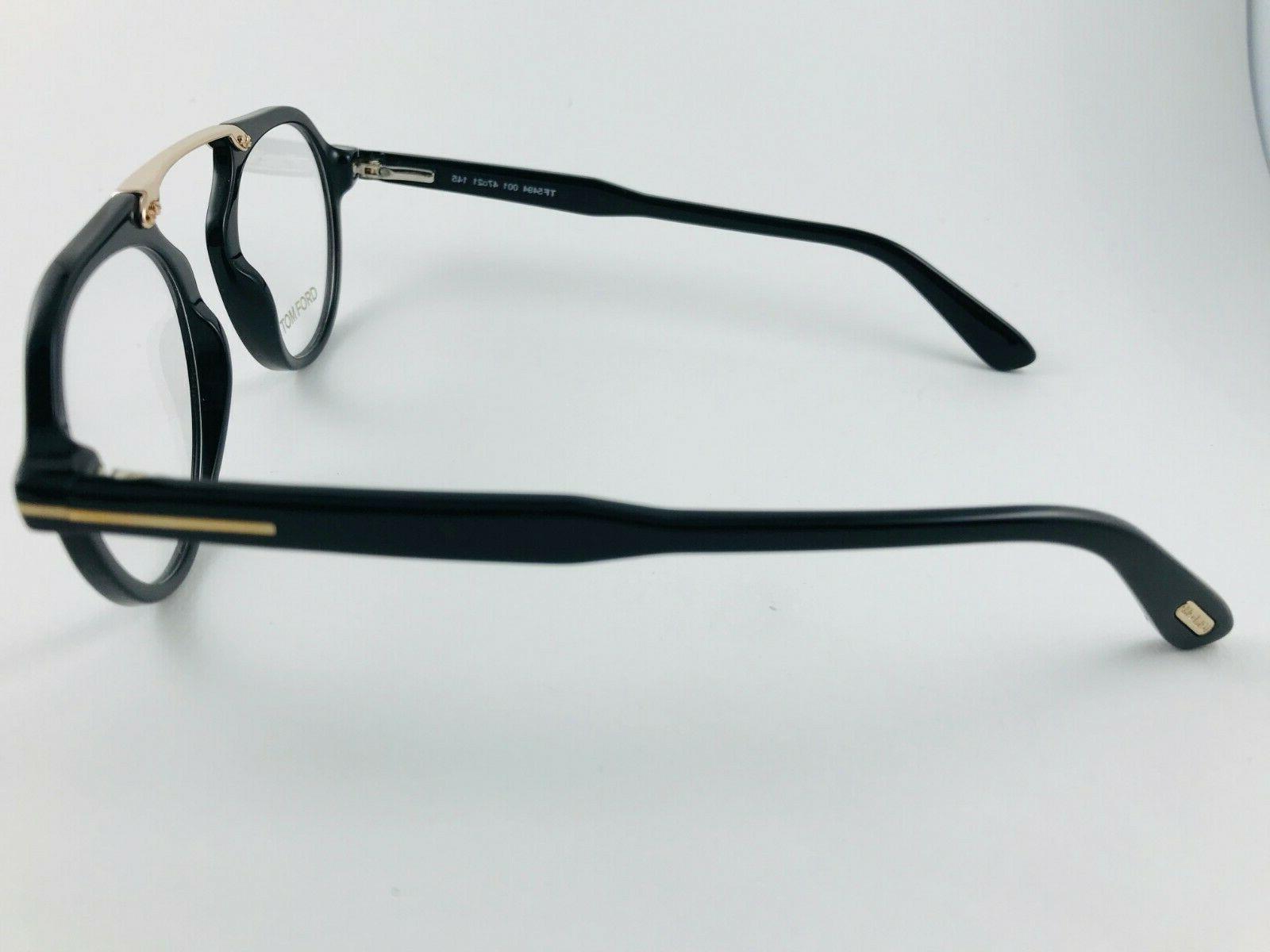 New Tom Eyeglasses Black Gold