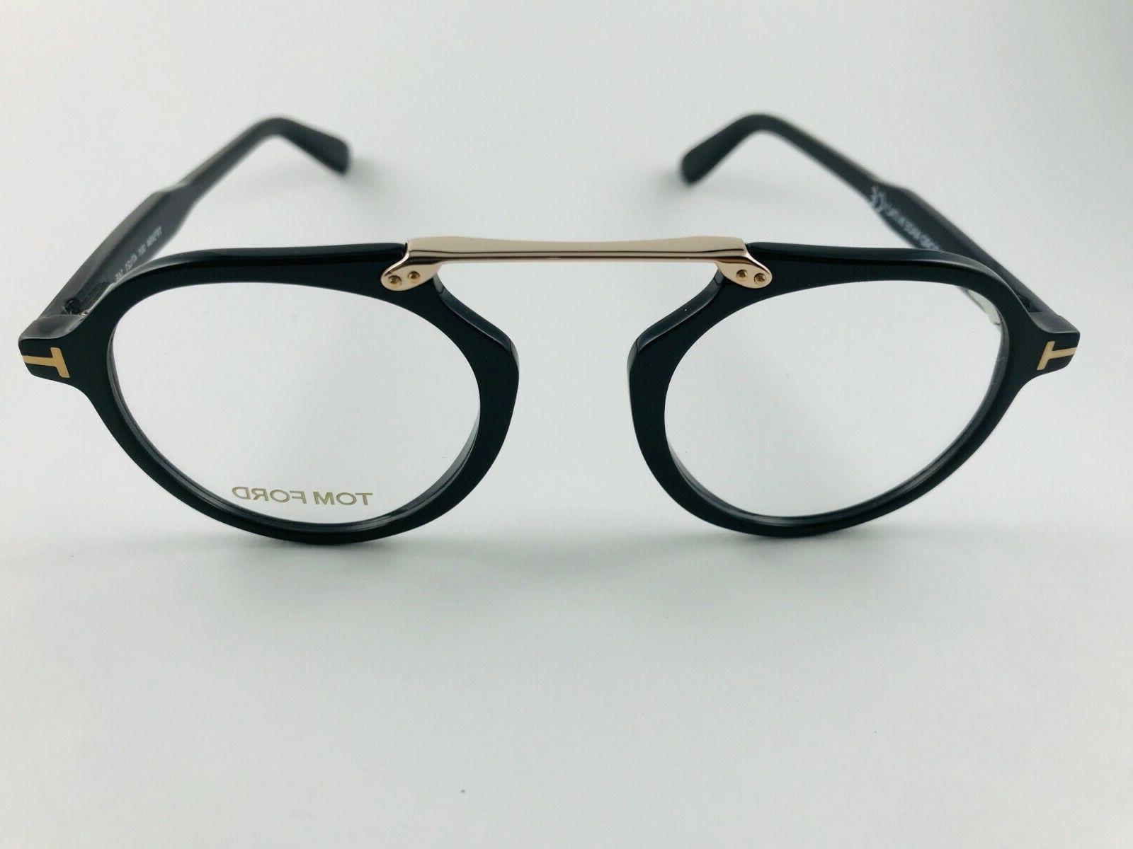 New Eyeglasses TF 5494 Black Gold 47-21-145