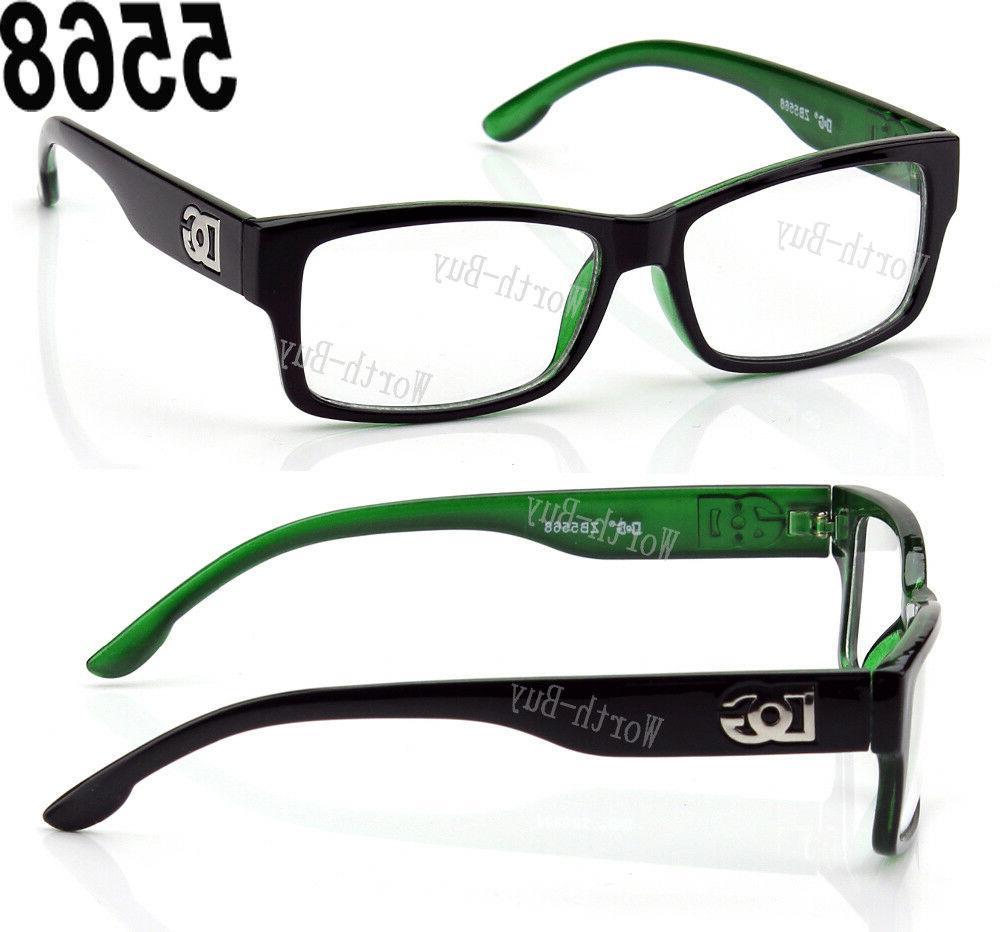New WB Square Frame Eye Designer Mens Retro RX