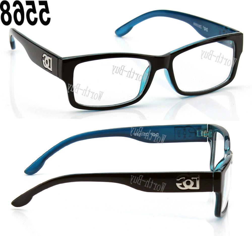 New Clear Lens Square Frame Glasses Womens Mens RX