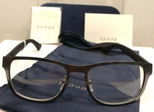 New GUCCI GG0175O 001 Men's Eyeglasses Frame W/ Stripe &