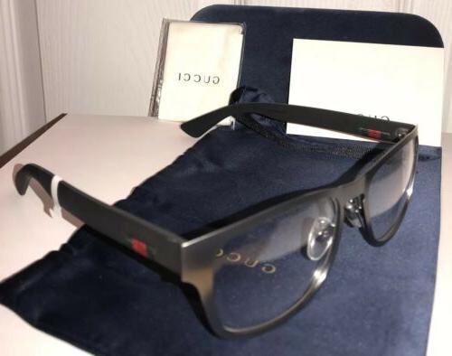 New GUCCI Men's Eyeglasses W/ Web Stripe &