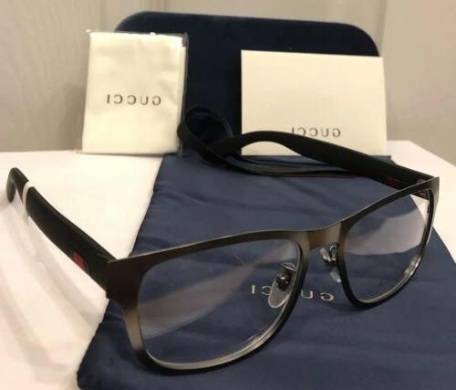 new gg0175o 001 mens gray eyeglasses frame