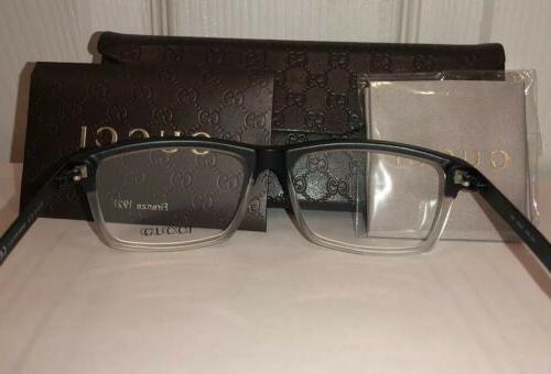 New Men's Eyeglass Frames GG3517 Black W/Signature Stripes