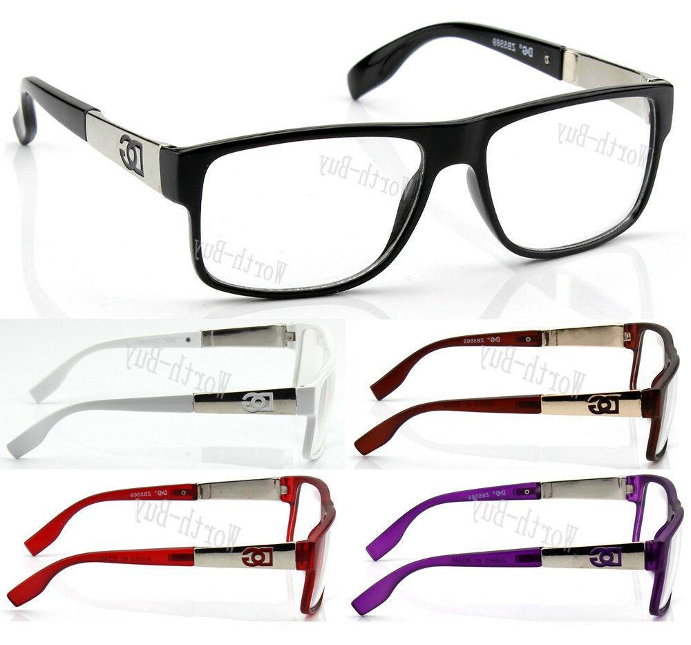 new men women clear lens eye glasses