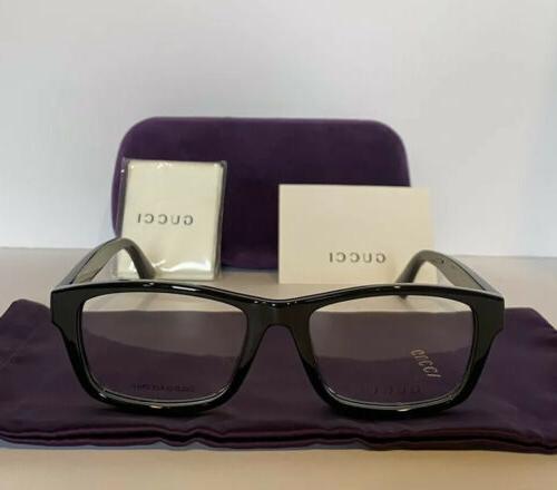 NEW 001 Black Eyeglasses Frames Case Web Stripe