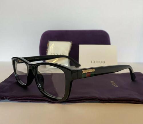 NEW GUCCI Mens GG07710A 001 Black Eyeglasses Frames W Web