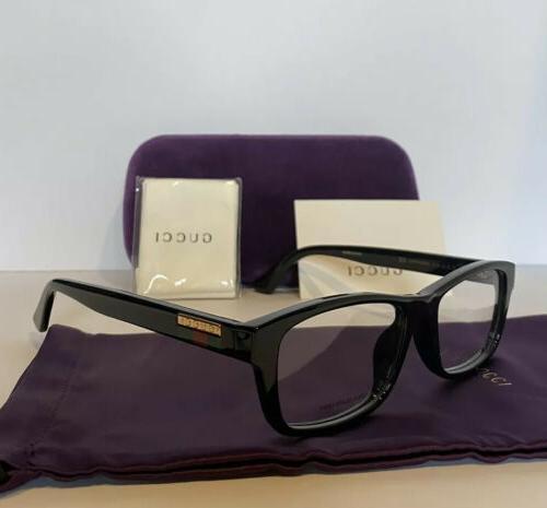 new mens gg07710a 001 black eyeglasses optical