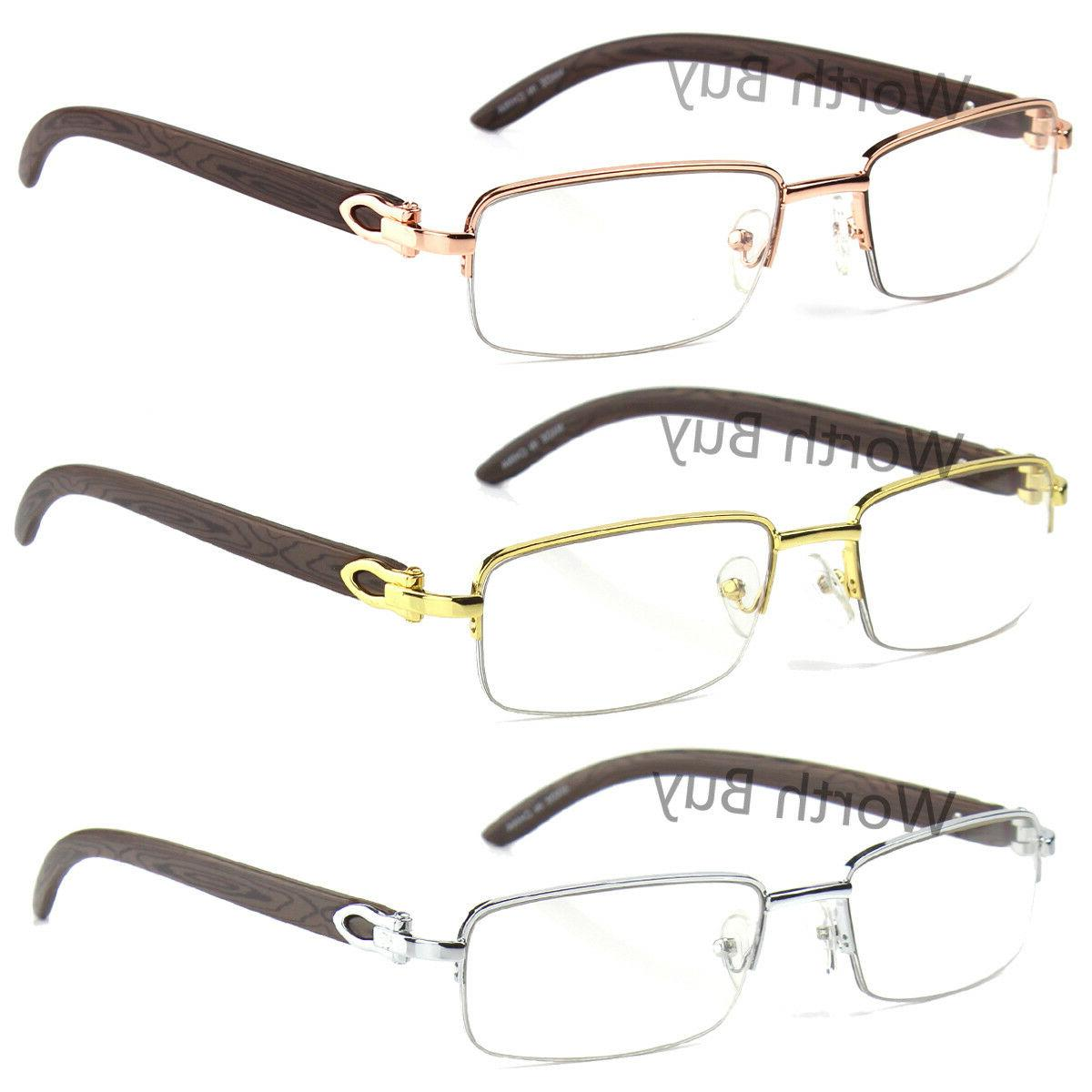 new mens women retro vintage clear lens