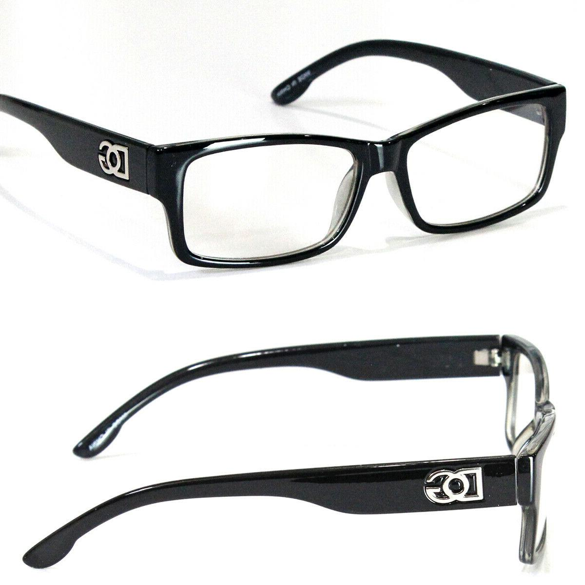 new mens womens square clear lens frame