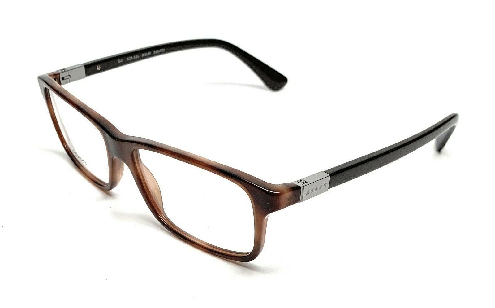 NEW PRADA VPR U6J-1O1 MEN'S EYEGLASSES 56-16