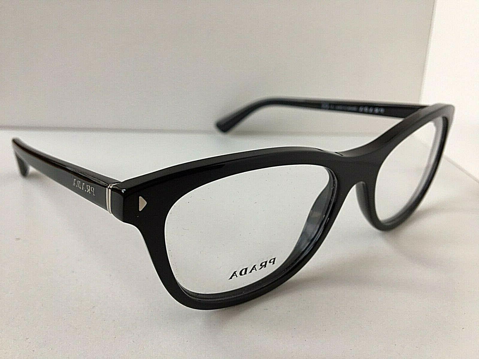 New PRADA 1AB-1O1 53mm Eyeglasses #5